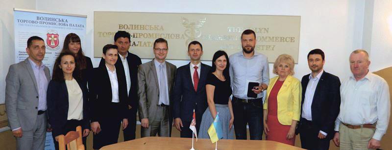 23 травня 2017 року у Волинській торгово-промисловій палаті перебувала делегація Українсько-Сербської ділової палати на чолі з президентом Мирославом Гочаком та члени Ради директорів палати