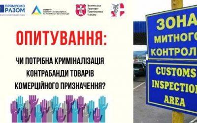"""Волинська ТПП   та   ГО """"Агенція міжнародної співпраці"""" запрошують до участі в опитуванні"""